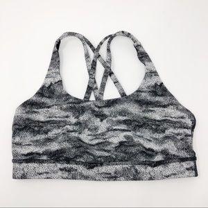 Lululemon | Energy Bra Black White Print 8